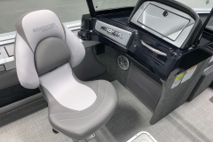 Co-Captain's Chair and Glovebox of the 2021 Smoker Craft 172 Explorer Fish and Ski Boat