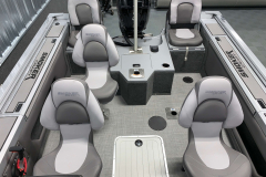 Interior Seating Configuration of the 2021 Smoker Craft 172 Explorer Fish and Ski Boat