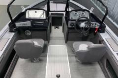 Bow Walk-Through Design of the 2021 Smoker Craft 172 Explorer Fish and Ski Boat