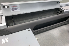 Lockable Rod Storage of the 2021 Smoker Craft 172 Explorer Fish and Ski Boat