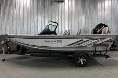 Custom Single Axle Trailmaster Trailer of the 2021 Smoker Craft 172 Explorer Fish and Ski Boat