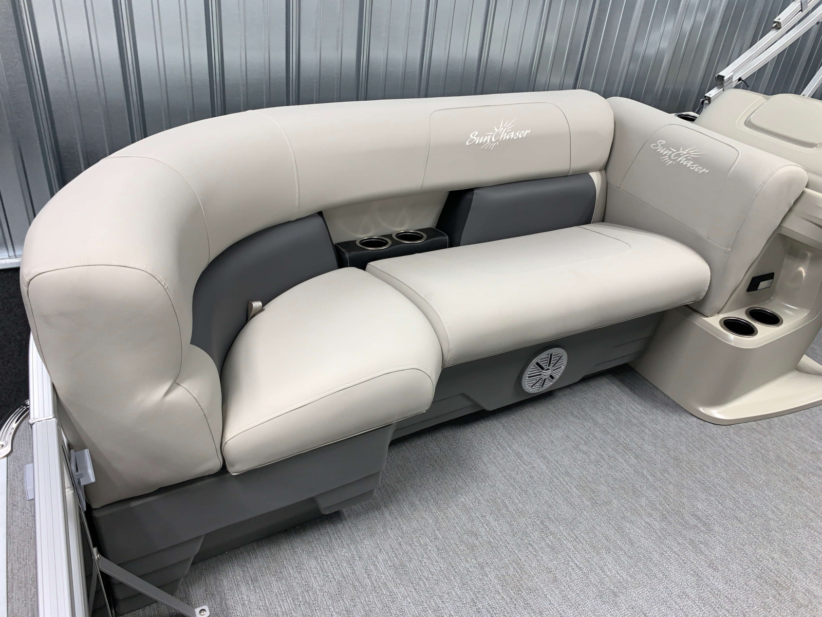 Interior Bow Seating of the 2021 SunChaser 16 LR Pontoon Boat