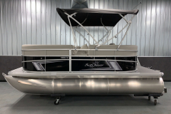Color Matched Bimini Top of the 2021 SunChaser 16 LR Pontoon Boat