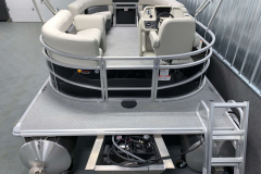 Spacious Aft Swim Deck of the 2021 SunChaser 16 LR Pontoon Boat
