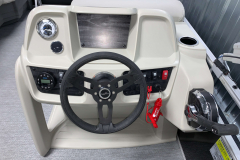 Bluetooth Jensen Stereo on the 2021 SunChaser 16 LR Pontoon Boat