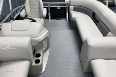 Interior Aft Layout of the 2021 SunChaser 16 LR Pontoon Boat