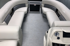Interior Bow Layout of the 2021 SunChaser 16 LR Pontoon Boat