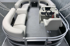 Complete Sea Weave Vinyl Flooring of the 2021 SunChaser 16 LR Pontoon Boat