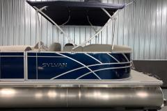 Blue Exterior Panel Color on the 2021 Sylvan 820 LZ Pontoon Boat