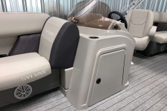 Helm Storage of the 2021 Sylvan 820 LZ Pontoon Boat