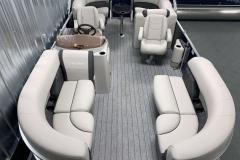 Interior Layout of the 2021 Sylvan 820 LZ Pontoon Boat