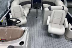 (2) Captain's Seats of the 2021 Sylvan 820 LZ Pontoon Boat