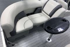 Grey Tone Interior Colors of the 2021 Sylvan 820 LZ Pontoon Boat