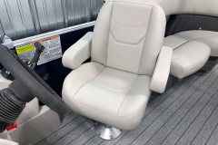 Captain's Helm Chair of the 2021 Sylvan 820 LZ Pontoon Boat