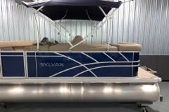 Blue Exterior Color on the 2021 Sylvan Mirage 8520 Cruise Pontoon Boat