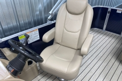 High Back Captain's Chair on the 2021 Sylvan Mirage 8520 Cruise Pontoon Boat