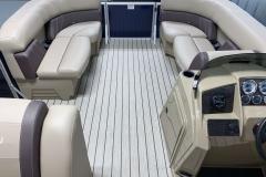 Interior Bow Layout of the 2021 Sylvan Mirage 8520 Cruise Pontoon Boat