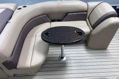 Rear L-Shape Seating of the 2021 Sylvan Mirage 8520 Cruise Pontoon Boat