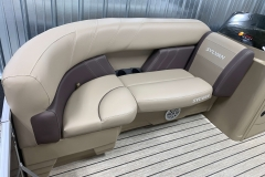 Interior Seating of the 2021 Sylvan Mirage 8520 Cruise Pontoon Boat