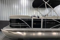 Black Exterior on the 2022 Sylvan Mirage 8520 Party Fish Pontoon Boat