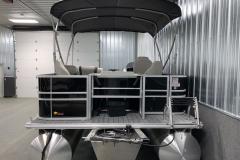 Aft Swim Deck of the 2022 Sylvan Mirage 8520 Party Fish Pontoon Boat