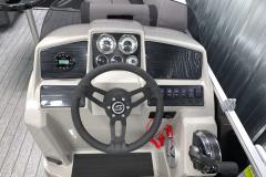 Bluetooth Jensen Stereo of the 2022 Sylvan Mirage 8520 Party Fish Pontoon Boat