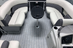 Removable Bow Snack Table of the 2022 Sylvan Mirage 8520 Party Fish Pontoon Boat
