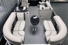 Interior Layout of the 2022 Sylvan Mirage 8520 Party Fish Pontoon Boat