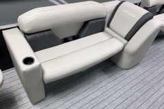 Party Fish Bench Seat of the 2022 Sylvan Mirage 8520 Party Fish Pontoon Boat