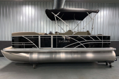 "8'6"" Bimini Top of the 2021 Sylvan 8520 Party Fish Pontoon Boat"