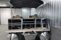 Aft Swim Deck of the 2021 Sylvan 8520 Party Fish Pontoon Boat