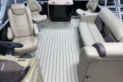 Interior Aft Layout of the 2021 Sylvan 8520 Party Fish Pontoon Boat