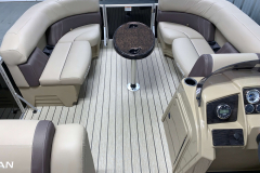 Interior Bow Layout of the 2021 Sylvan 8520 Party Fish Pontoon Boat