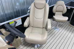 High Back Captains Chair on the 2021 Sylvan 8520 Party Fish Pontoon Boat