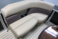 Built-In Cupholders of the 2021 Sylvan 8520 Party Fish Pontoon Boat