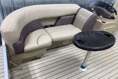 Removable Snack Table of the 2021 Sylvan 8520 Party Fish Pontoon Boat