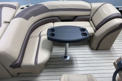 Wraparound L-Shape Seating of the 2021 Sylvan L1 Cruise Pontoon Boat