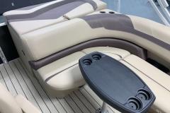 Rear Sun Pad / Storage of the 2021 Sylvan L1 Cruise Pontoon Boat
