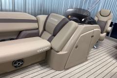 Helm Storage of the 2022 Sylvan L1 Cruise Pontoon Boat
