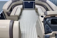 Interior Bow Layout of the 2021 Sylvan L1 Cruise Pontoon Boat