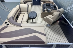 Rear Sunpad/Storage of the 2022 Sylvan L1 Cruise Pontoon Boat