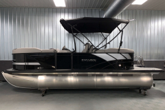 Blackout Rail Package on the 2021 Sylvan L1 LZ Tritoon Boat