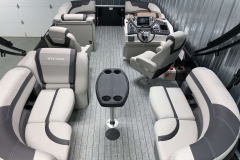 Interior Layout of the 2021 Sylvan L1 LZ Tritoon Boat
