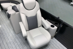 High Back Passenger Seat of the 2021 Sylvan L1 LZ Tritoon Boat