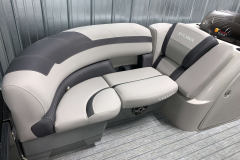 Interior Seating of the 2021 Sylvan L1 LZ Tritoon Boat