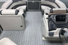 Interior Bow Layout of the 2021 Sylvan L1 LZ Tritoon Boat