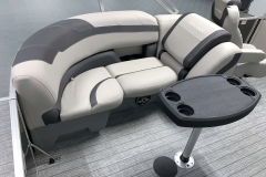 Removable Snack Table of the 2021 Sylvan L1 LZ Tritoon Boat