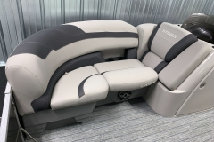Soft Touch Vinyl Furniture of the 2021 Sylvan L1 LZ Tritoon Boat