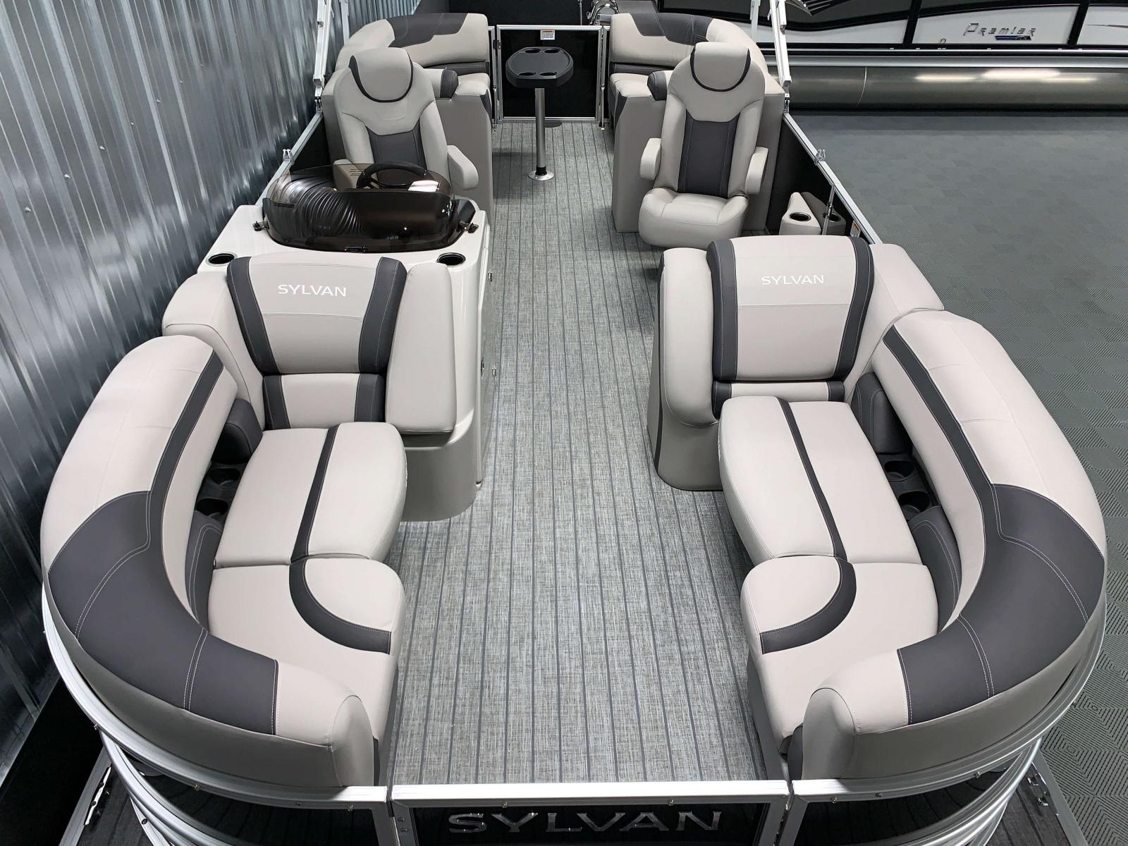 Interior Layout of the 2022 Sylvan L3 LZ Pontoon Boat