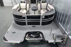 Rear Swim Deck of the 2022 Sylvan L3 LZ Pontoon Boat